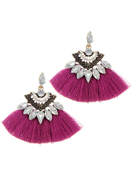Crystal Night Out Tassell Earrings