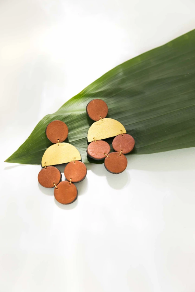 Wren Leather Earrings
