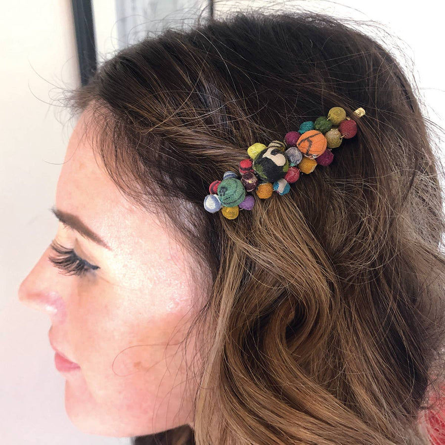 Kantha Cluster Hair Pin