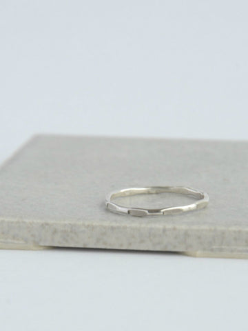Sterling Stacking Rings - Thin Textured
