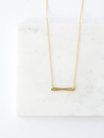 Ladder Rung Bar Necklace - Brass