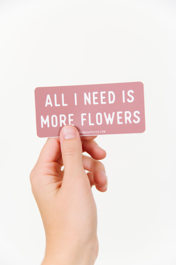More Flowers Sticker