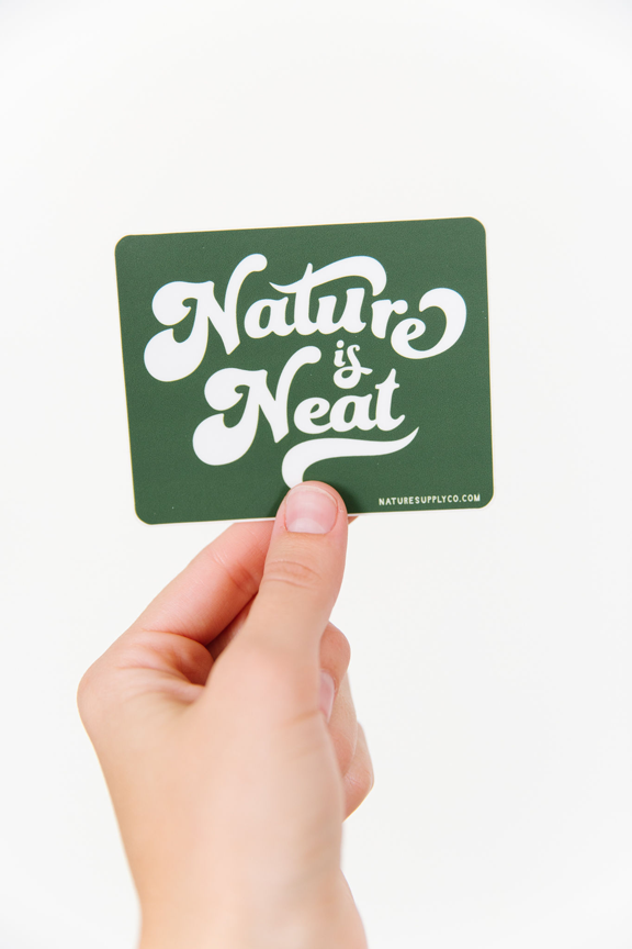 Nature is Neat Sticker