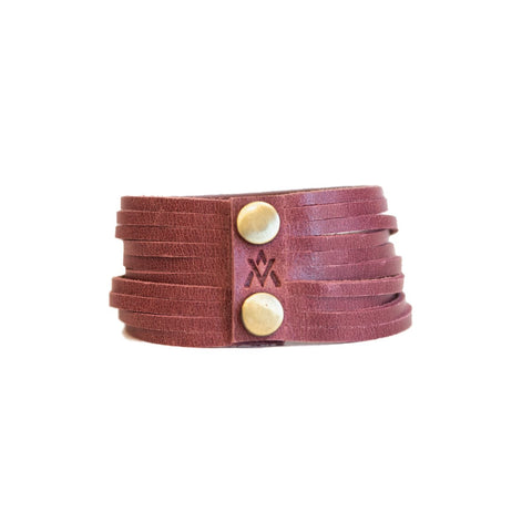 Slitted Cuff - Maroon
