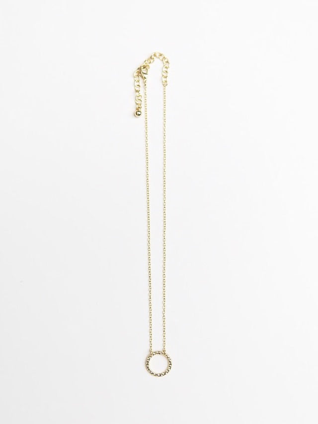 Simple Circle Necklace - Brass