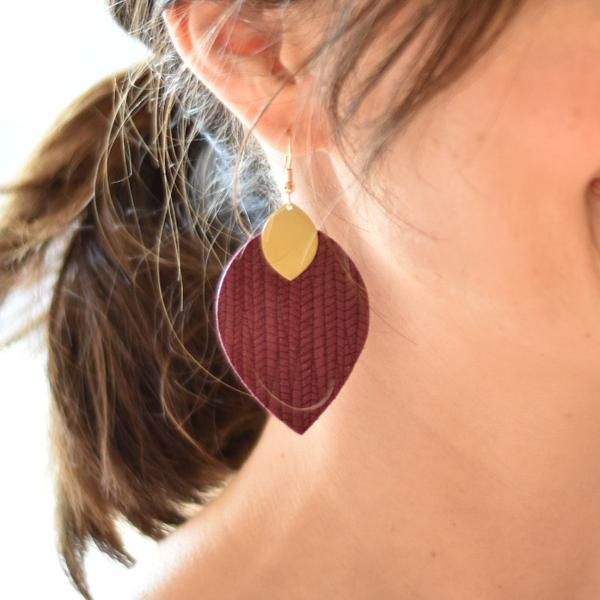 Cora Leather Earrings - Multiple Colors Available