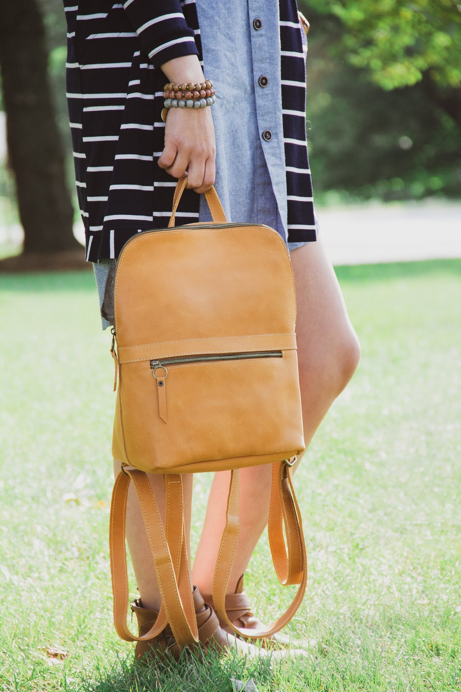 Leather Backpack Purse - Multiple Colors Available