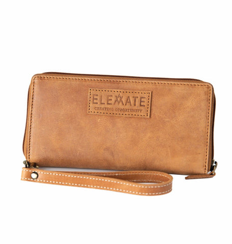Zipper Wallet - Camel