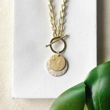 Gilded Moon Necklace
