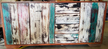 Reclaimed Boat Wood Dresser with Mirror