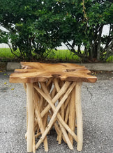 Live Edge Teak End Table
