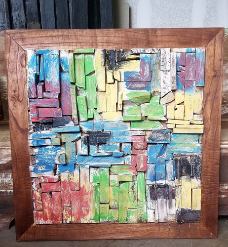 Mosaic Reclaimed Boat Wood Wall Art