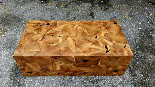 Natural Teak Section Coffee Table