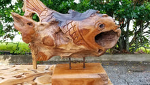 Teak Fish Table Art