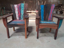 Reclaimed Boat Wood Adirondack Style Chair