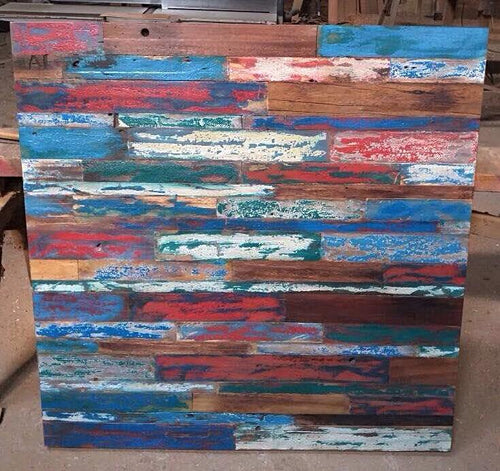 Reclaimed Boat Wood Wall Art