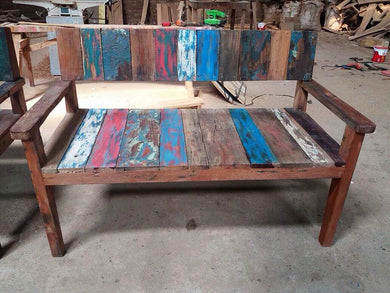 Reclaimed Boat Wood Bench