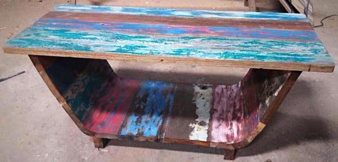 Reclaimed Boat Wood Coffee Table