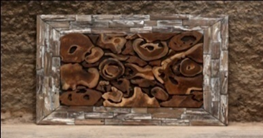 Teak Section Wall Art Rectangle