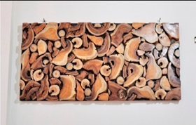 Mosaic Teak Wall Art