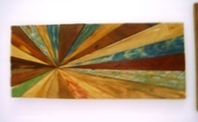 Reclaimed Boat Wood Sunburst Wall Art