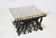Scattered Teak Branch Coffee Table
