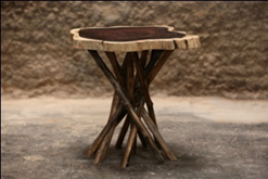 Live Edge Suar Wood End Table