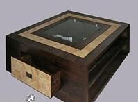 Teak Coffee Table with Side Drawer