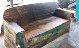 Reclaimed Boat Wood Couch