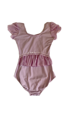 Capezio leotard with cap sleeves and back frill