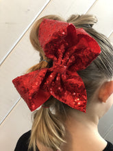 "8"" Sequin Hair Bows with Large Alligator Clips"