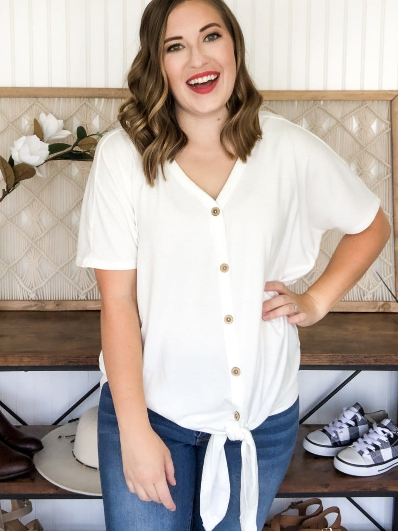 Betty Button Up Short Sleeve Top