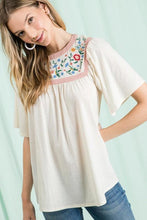 Maren Ivory Embroidered Top