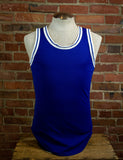 Vintage Rawlings Blue Ringer Tank Top 1980s Unisex Medium
