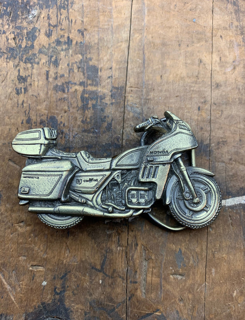 Vintage 1981 Honda Gold Wing Brass Belt Buckle