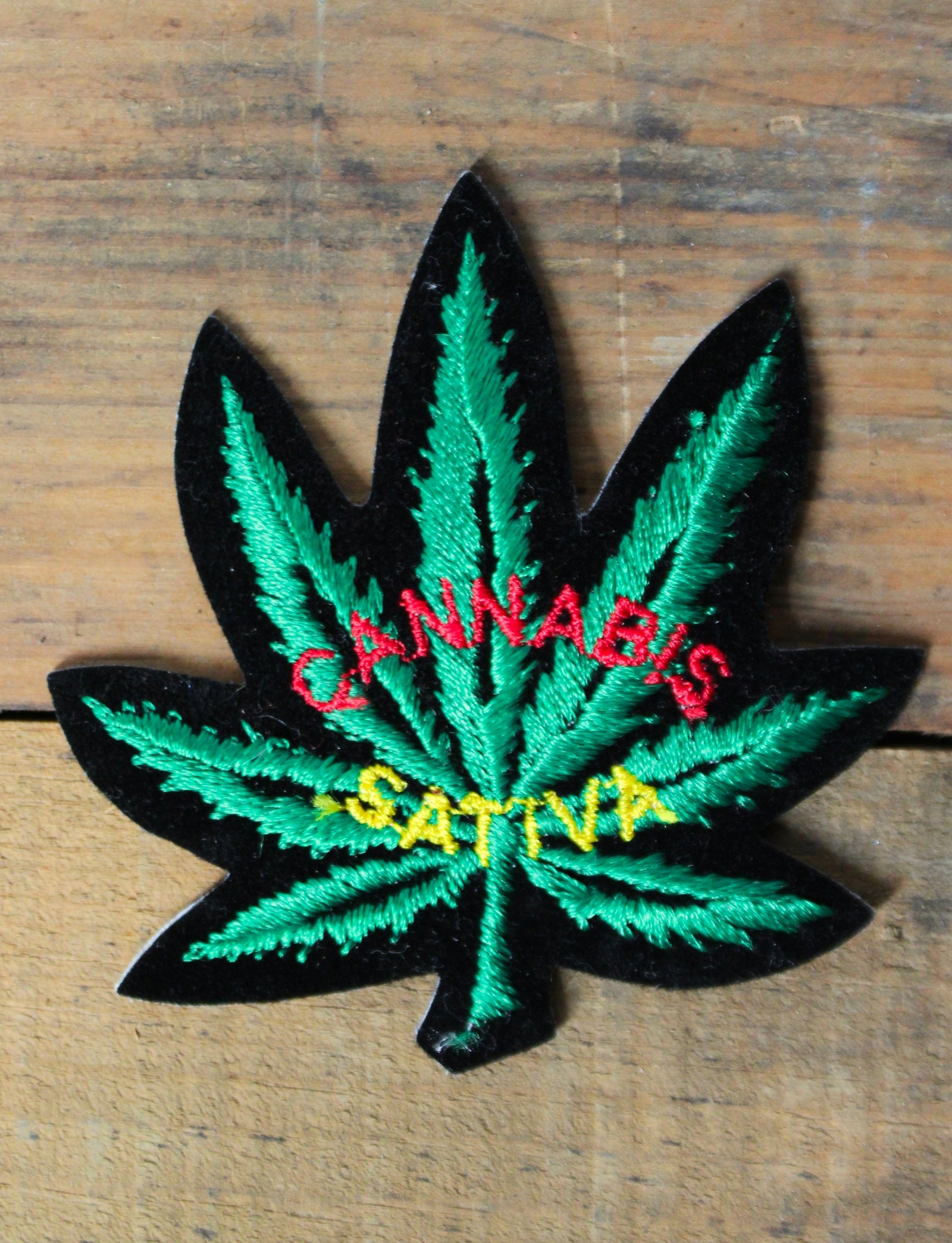 Vintage Marijuana Patch Cannabis Sativa Deadstock