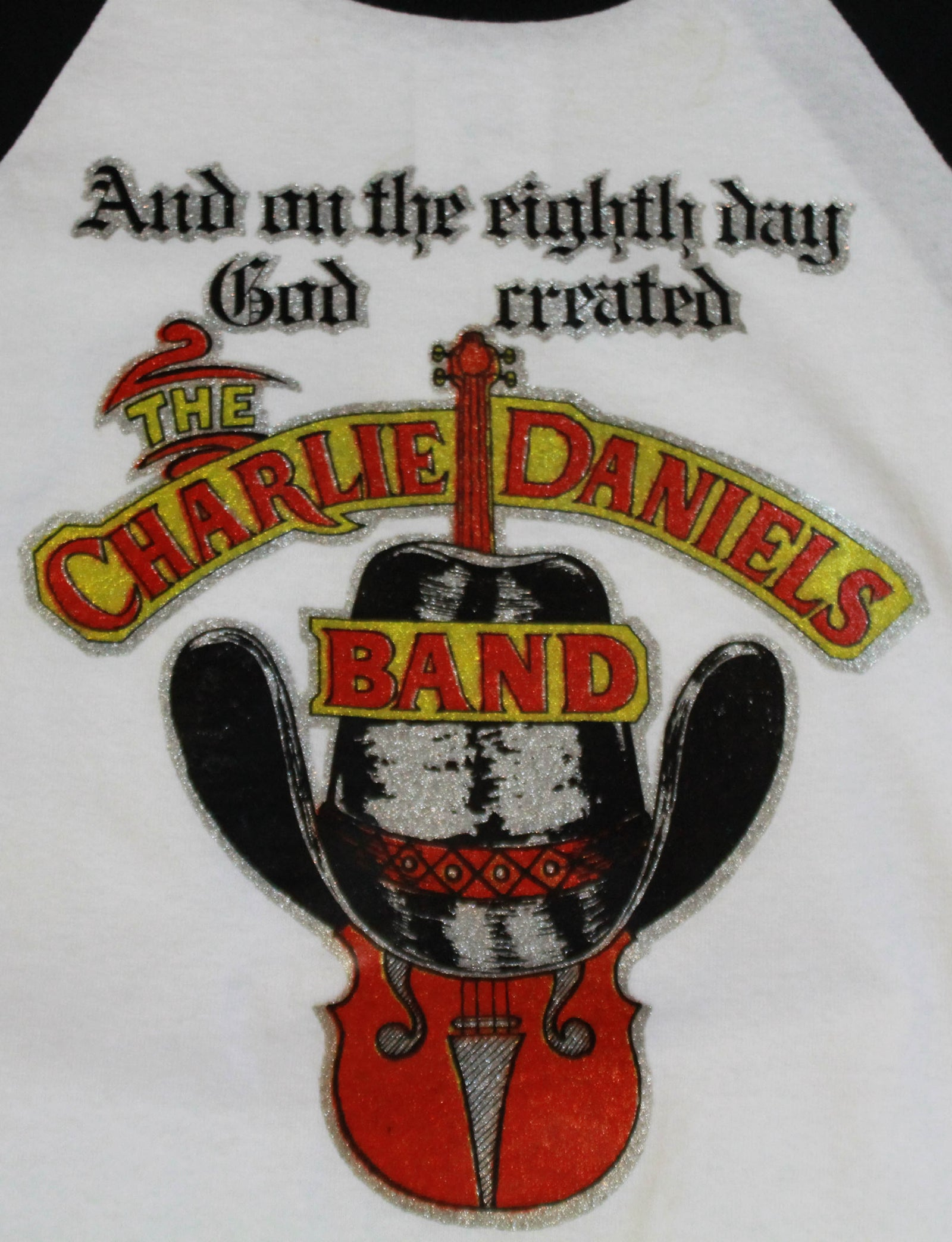 Vintage Charlie Daniels Band Concert T Shirt Iron-On Jersey Unisex Medium