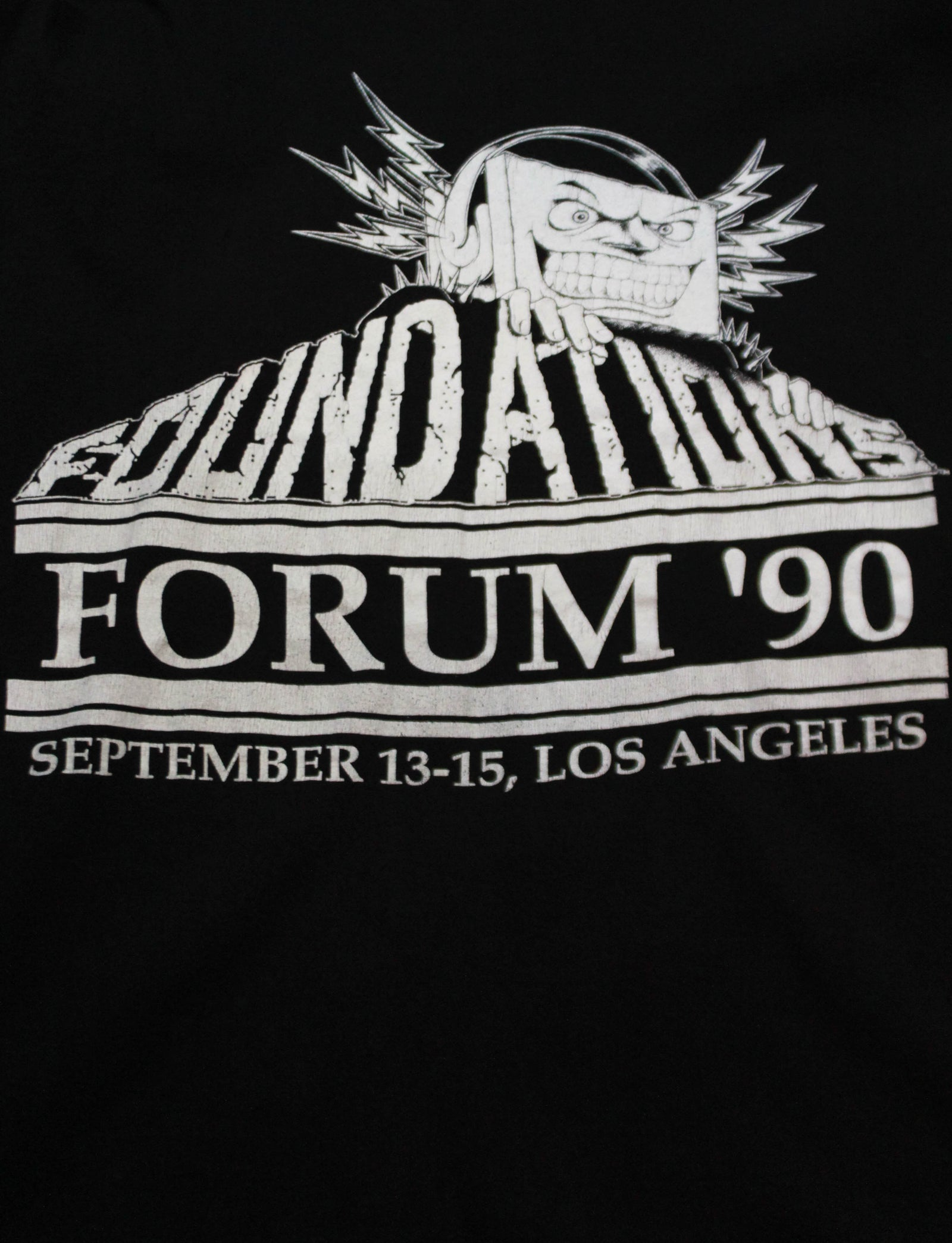Vintage Foundations Forum Concert T Shirt 1990 Winterland Rock Express Convention Unisex Extra Large