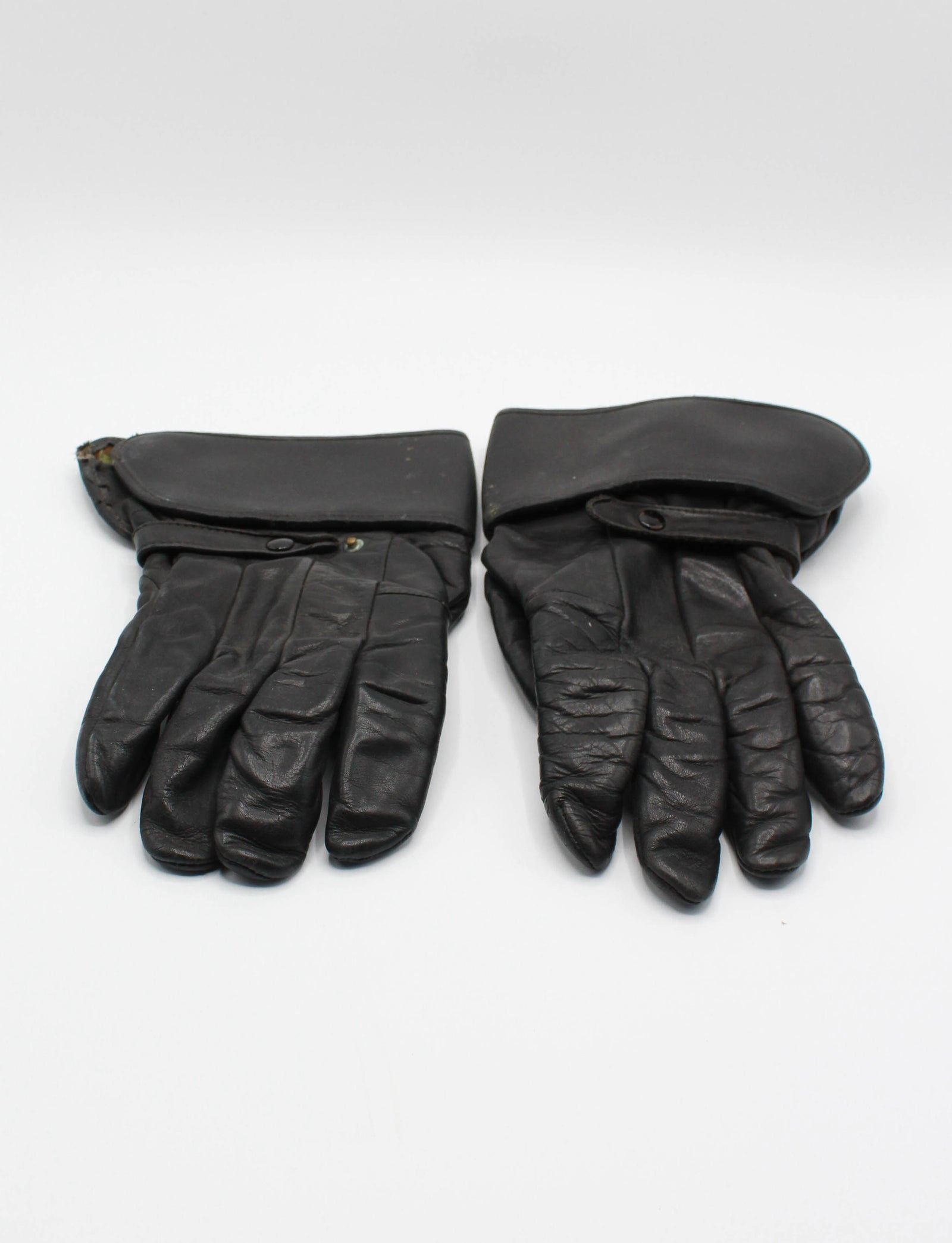 Men's Vintage 80's/90's Harley Davidson Gauntlet Gloves Black Leather Riding Biker Motorcycle Size 12