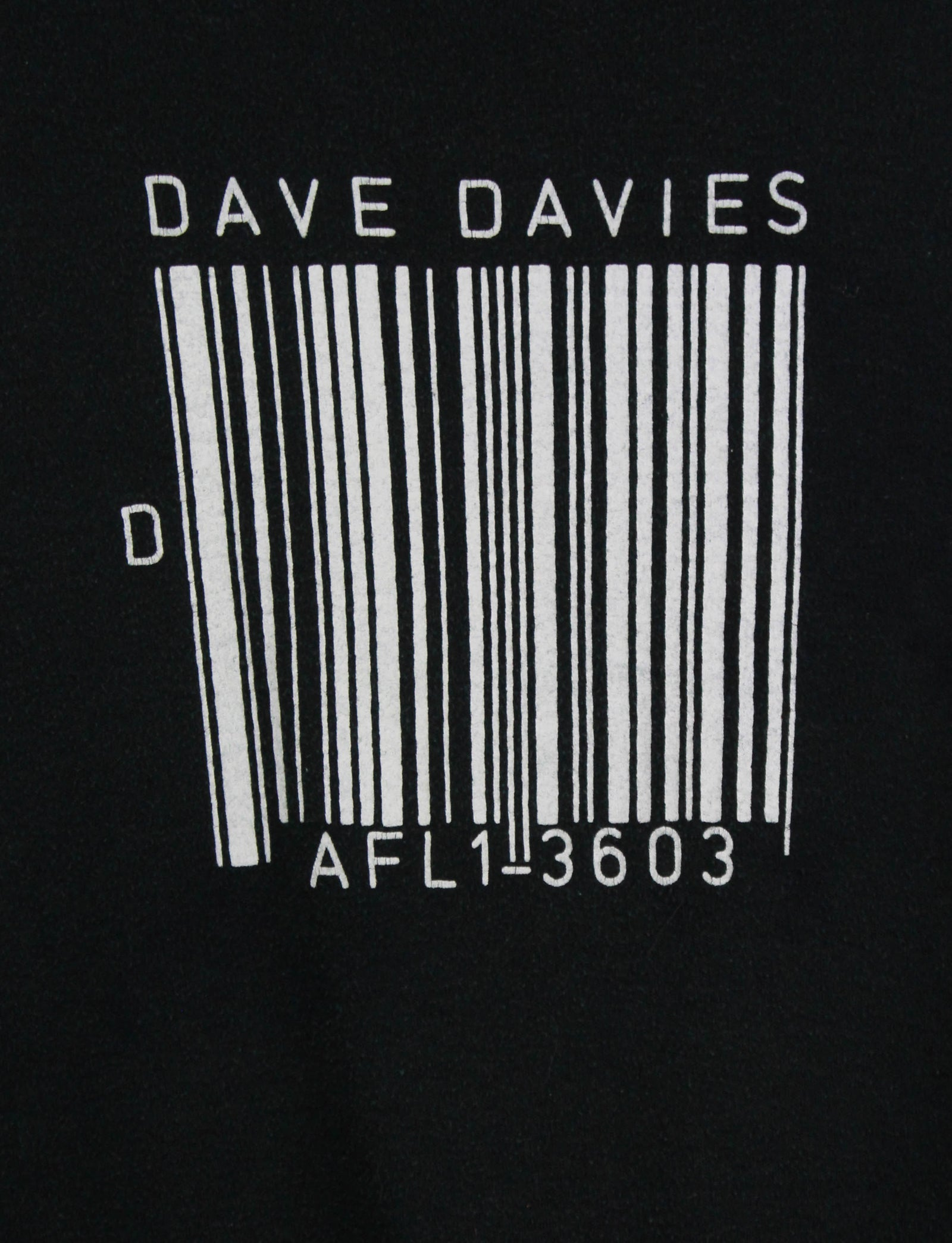 Vintage 1980 Dave Davies Concert T Shirt Promo Tee AFL 13603 Album The Kinks Black Unisex Small/Medium