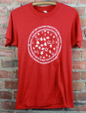 Vintage 1989 Puerto Rican Rights Conference Graphic T Shirt Red Unisex Small