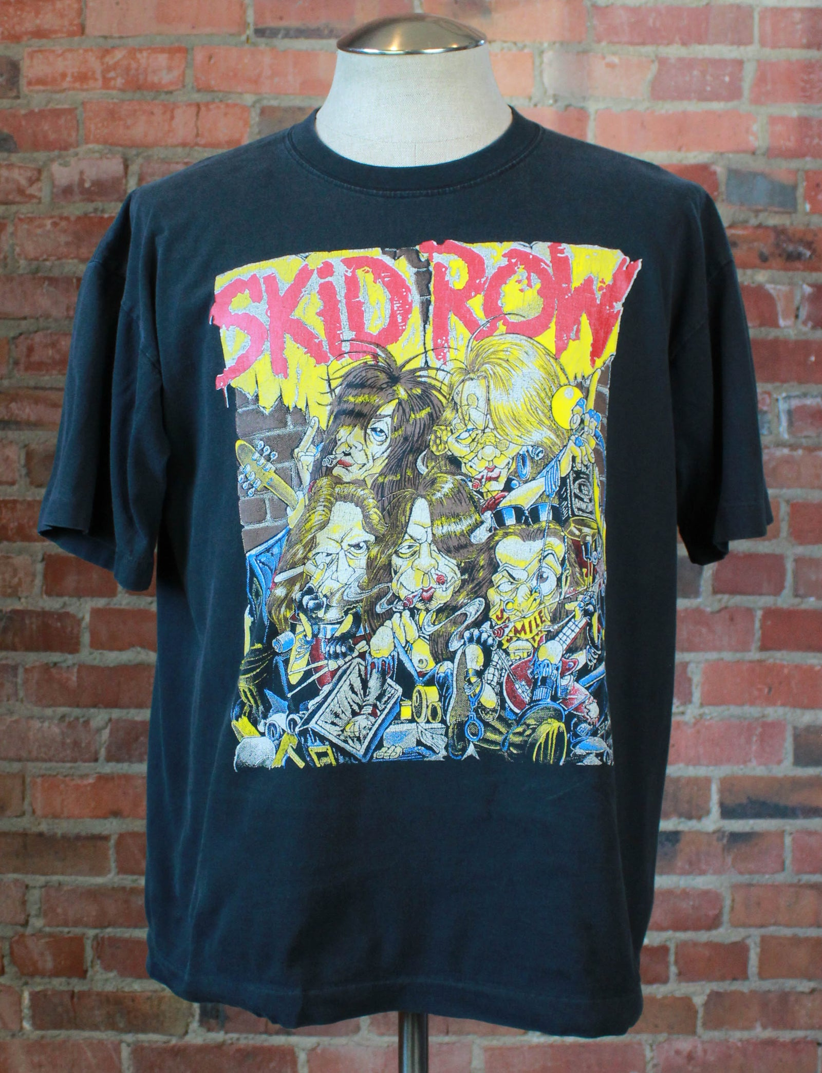 Vintage 1992 Skid Row Concert T Shirt B-Sides Ourselves Tour Black Unisex Large