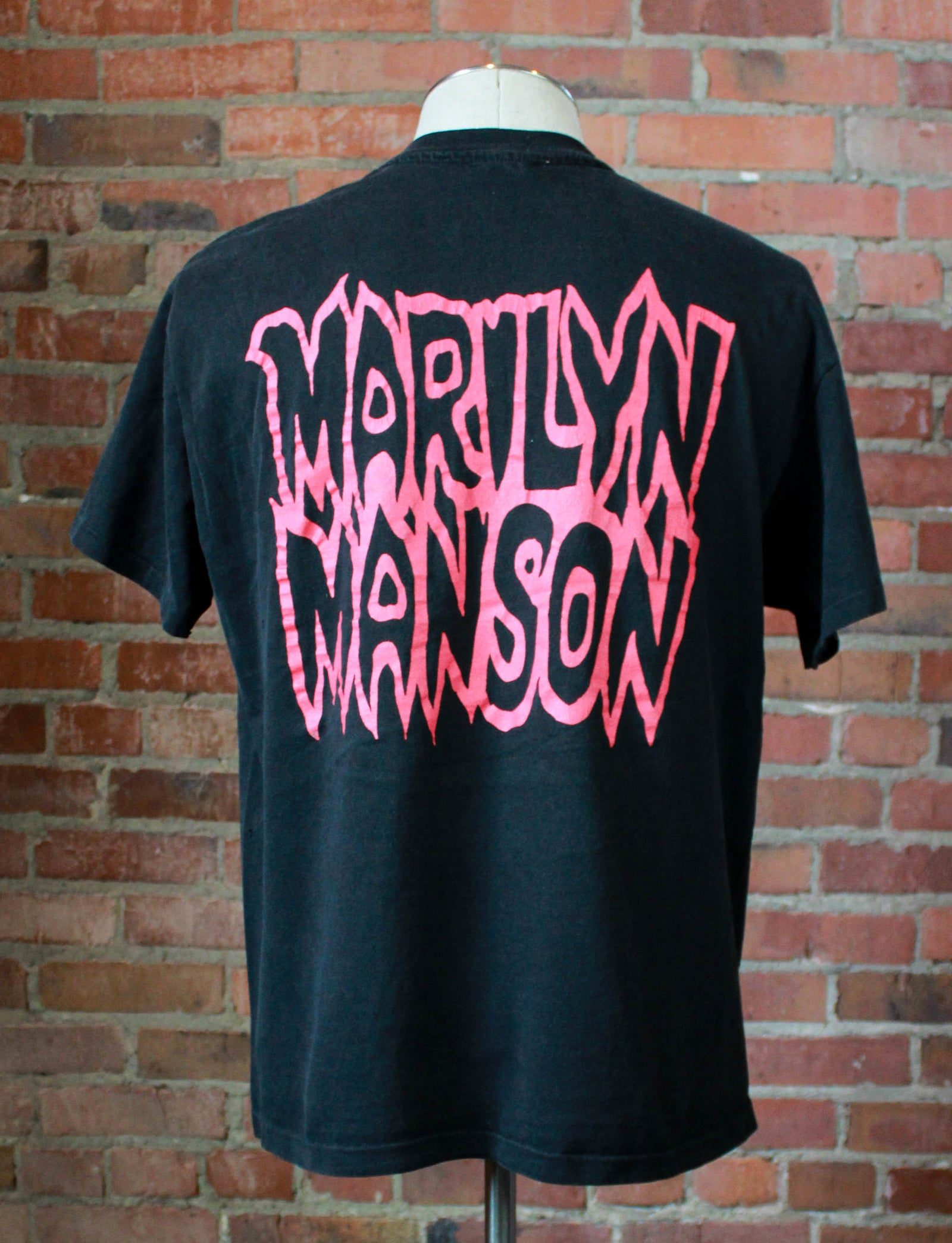 Vintage 1994 Marilyn Manson Concert T Shirt Kill God Kill Mom & Dad Black Red Unisex Large/XL