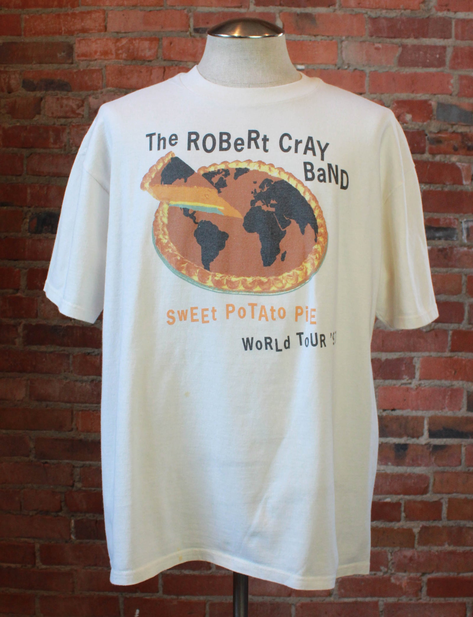Vintage 1997 Robert Cray Band Concert T Shirt Sweet Potato Pie World Tour White Unisex XL