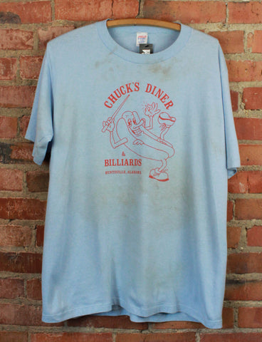 Vintage 1980 Hill Street Blues Graphic T Shirt Blue Unisex XL