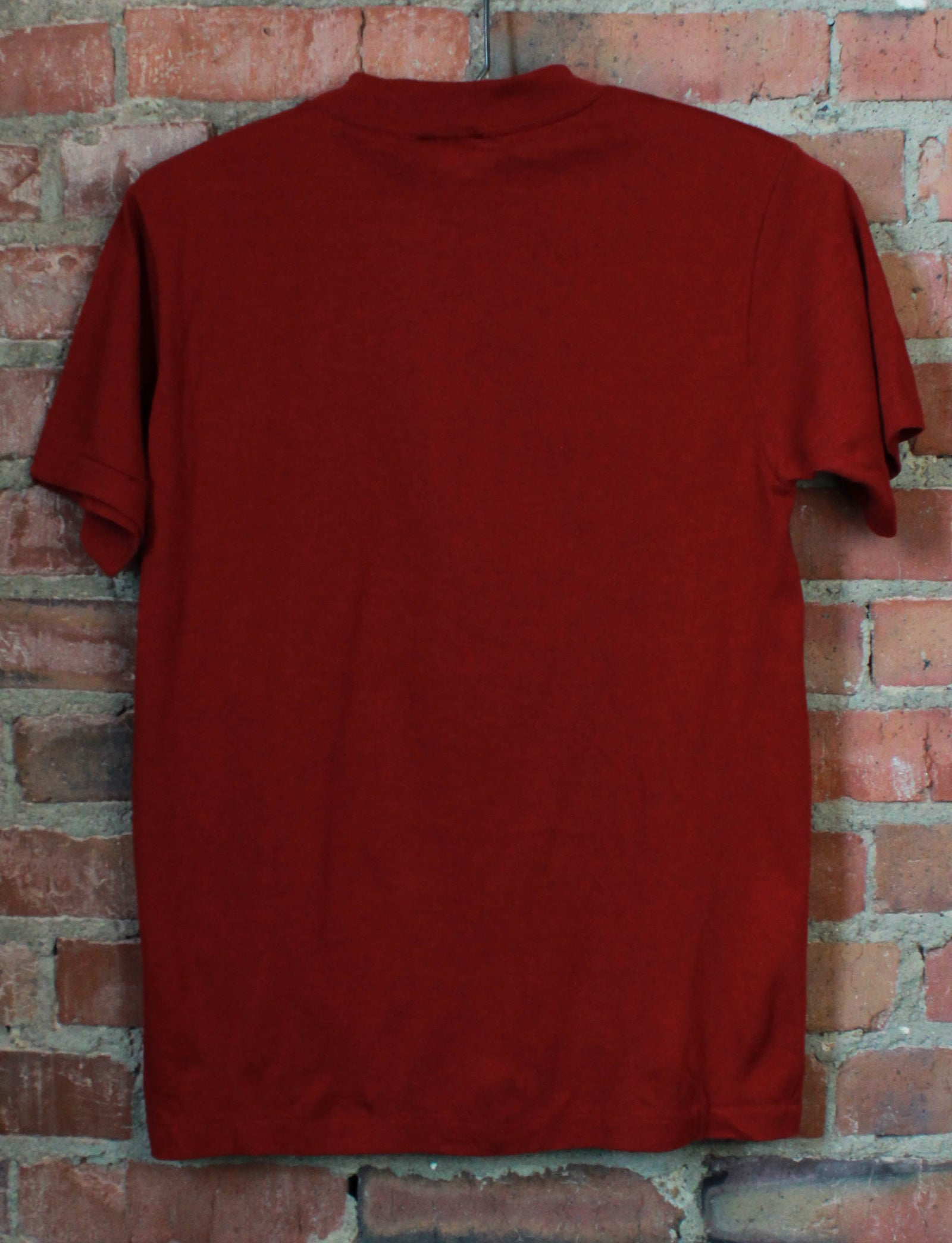 Vintage 80's London Paris Rome Ft. Worth Graphic T Shirt Maroon Unisex Small/Medium