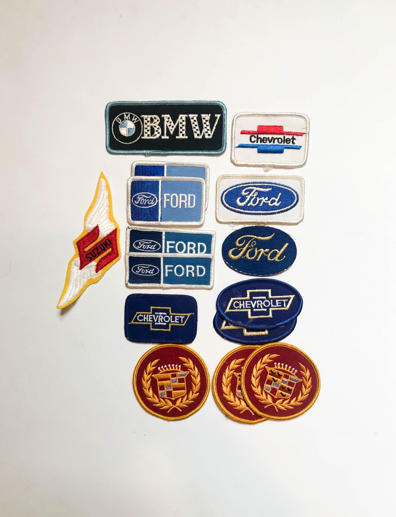 Vintage Car Patches Ford Chevrolet Chevy BMW Cadillac Suzuki