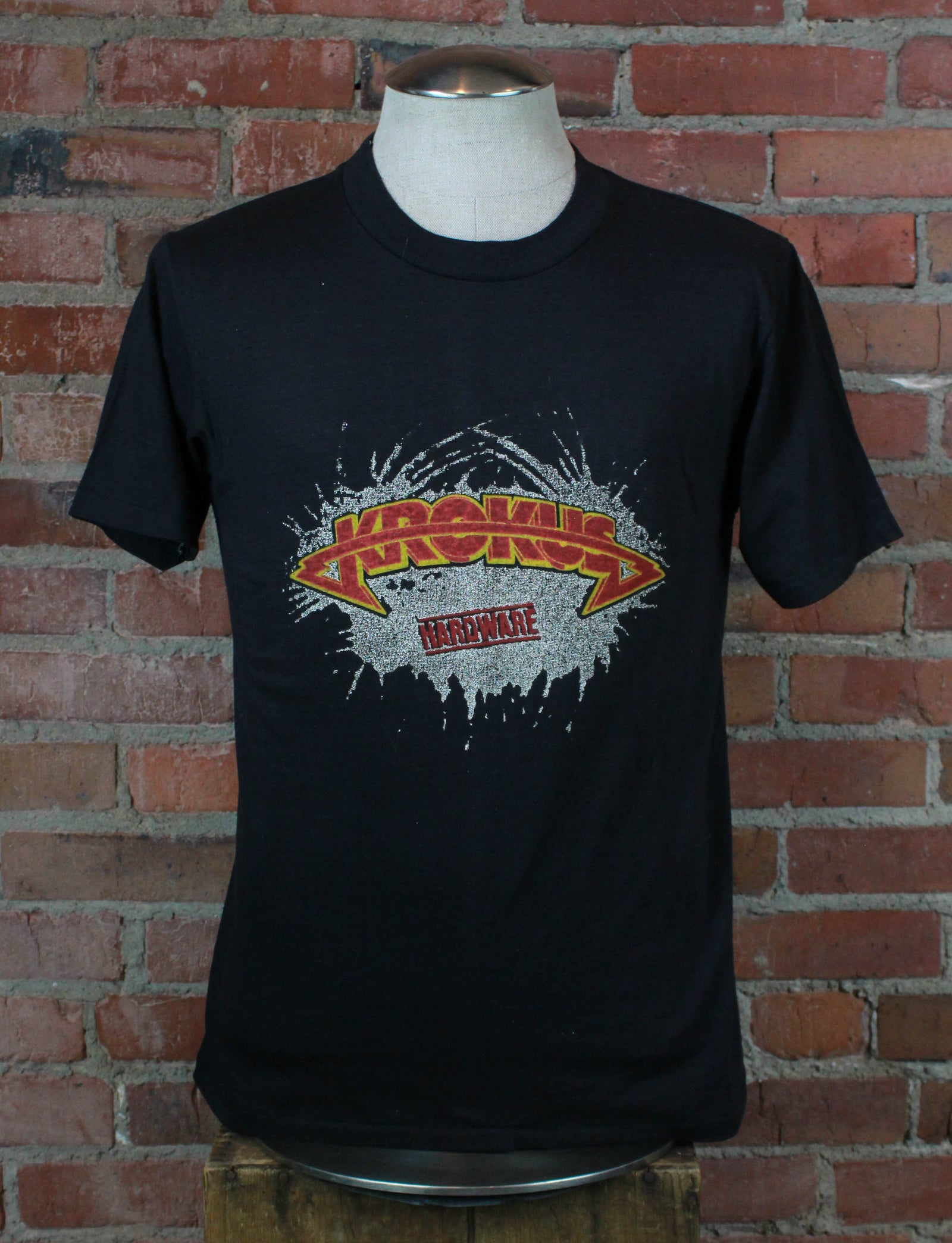Vintage Krokus Concert T Shirt 1981 Hardware Tour Of Britain - Medium