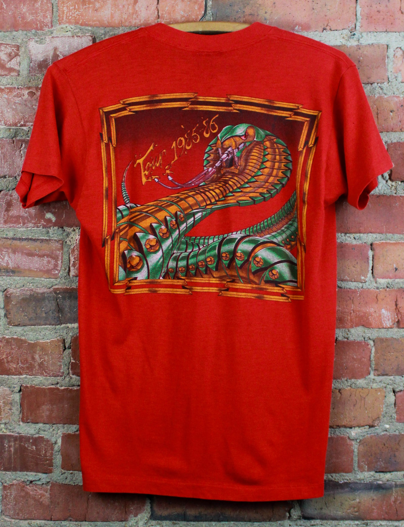 Vintage 1985-1986 Y&T Concert T Shirt Black Tiger Tour Red Unisex Small