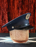 Vintage 1950's Fireman's Dress Hat With Gold Badge Size Small